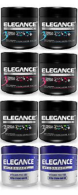 Elegance Triple Action Styling Hair Gel 8.8, 17.6, 35oz TWIN PACK(2)- Sealed New - Gel Triple Pack