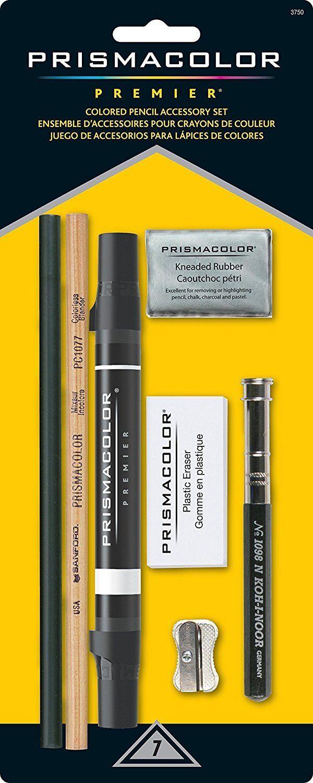7 Piece Prismacolor Premier Art Set, Pencils, Erasers, Sharpeners, Marker Art Supplies