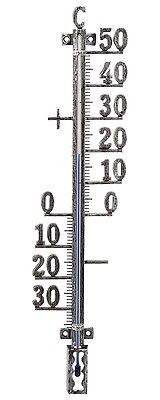 Thermometer Aussen Garten Zimmerthermometer Metall große Zahlen altzinn 12500250