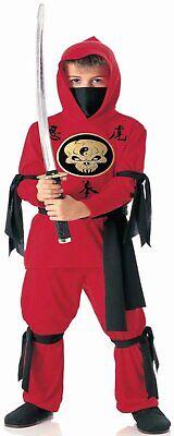 Childrens Ninja Costumes (KID'S RED NINJA CHILD COSTUME)