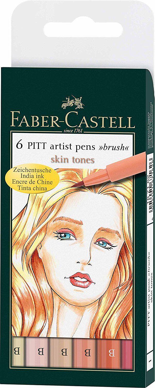 Faber Castell Pitt Artist Markers, Light Skin Tones, Brush Tip, New, #167162 Art Pens & Markers