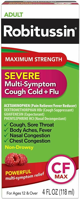 Adult Robitussin Maximum Strength Severe Multi-Symptom Cough