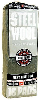 Rhodes American Steel Wool Grade 00 - Very Fine Rhodes Steel Wool