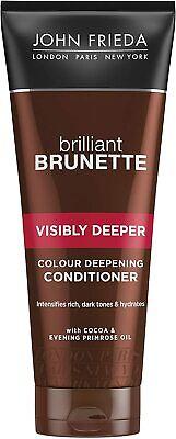 John Frieda Brilliant Brunette Visibly Deeper Colour Conditioner Brown Hair New
