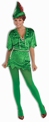 Robin Hood Tunic (Peter Pan Robin Hood Green Elf Tunic Adult Womens Sexy Costume)