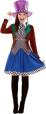 Elegante Damen Hatter Alice Märchen Spaß Halloween Kostüm Kleid - Elegante Kostüm Alice