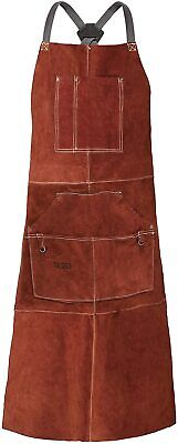 Leather Welding Work Apron Heat Flame Resistant Protective For Blacksmith New