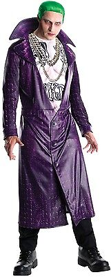 Herren Offiziell Suicide Truppe Joker Bösewicht Dc Comics Kostüm Kleid Outfit (Offizielle Dc Comic Kostüme)