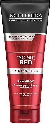 John Frieda Radiant Red Boosting Shampoo for Red Hair 250 ml Original New