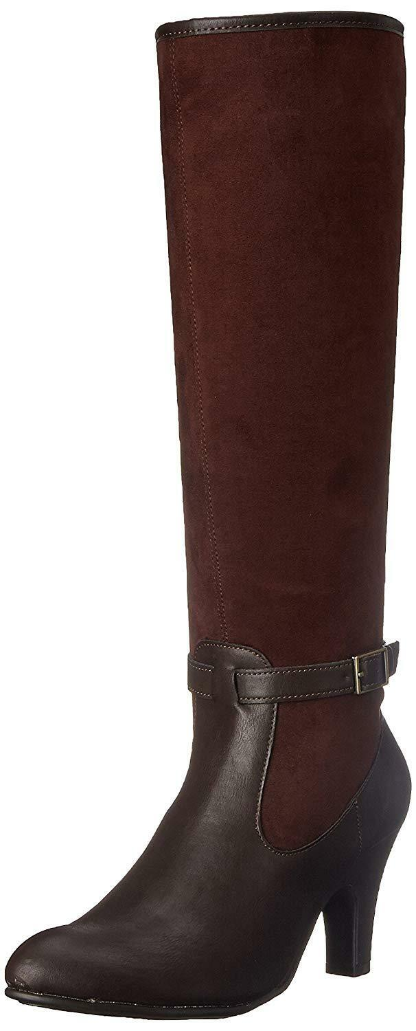 70acc6953a7 Details about Aerosoles Womens Brown Cloudscape Knee High Harness Boots Sz  8 M US  120