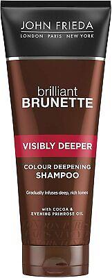 John Frieda Brilliant Brunette Colour Deepening Shampoo for Brown Hair, 250 ml