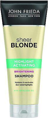 John Frieda Sheer Blonde Highlight Activating Brightening Shampoo with Avocado