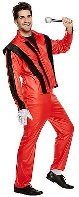 Herren Thriller Pop Star Stag Do Nacht Halloween Kostüm Kleid - Pop Star Halloween Kostüm