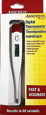 LCD Fever Alert Assured Digital Thermometer Adult Child Baby Temperature Medical