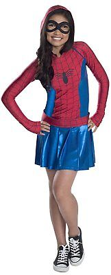 Spider-Girl Hooded Marvel Superhero Fancy Dress Up Halloween Child - Superhero Girl Dress Up