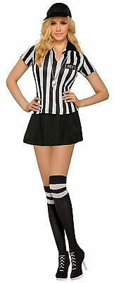 Sexy Referee Girl Woman Football Sports Fancy Dress Halloween Adult Costume