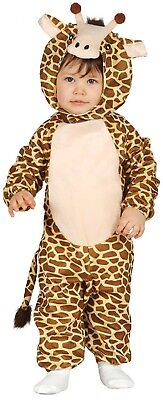 Baby Mädchen Jungen Giraffe Dschungel Tv Film Kostüm Kleid Outfit 6-12-24 Monate