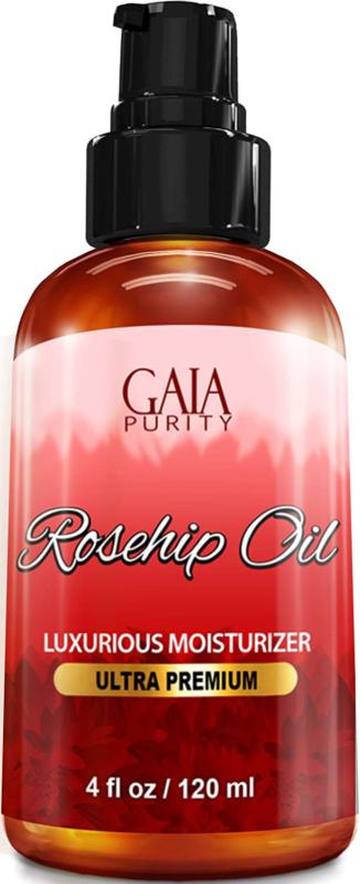 Rosehip Oil, Large 4oz - All Natural, Best Moisturizer for F
