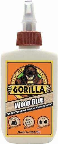 Gorilla Glue 6202001 Wood Glue, 4 oz bottle