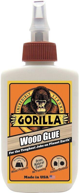 Gorilla Glue 6202001 Wood Glue, 4 oz bottle