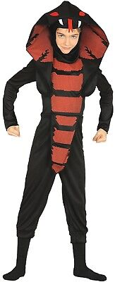 Boys Girls Cobra Ninja Halloween Horror Fancy Dress Costume Outfit 3-12 Yrs - Ninja Girl Outfits