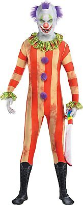 Clown Kostüm Kinder Halloween Verkleidung Party Jumpsuit Anzug Größe M B-WARE