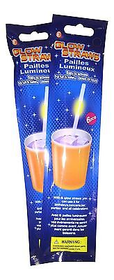 30 pc GLOW IN THE DARK LIGHT UP GLOWING MOTION PARTY CELEBRATION DRINKING STRAWS (Dark Light Party)