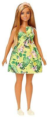 Barbie Fashionistas Doll #126 Tropical Dress, Blonde Hair, Curvy Body, NEW