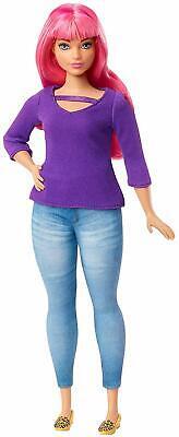 Barbie GHR59 Dreamhouse Adventures Daisy Doll Pink Hair Jeans Purple Top