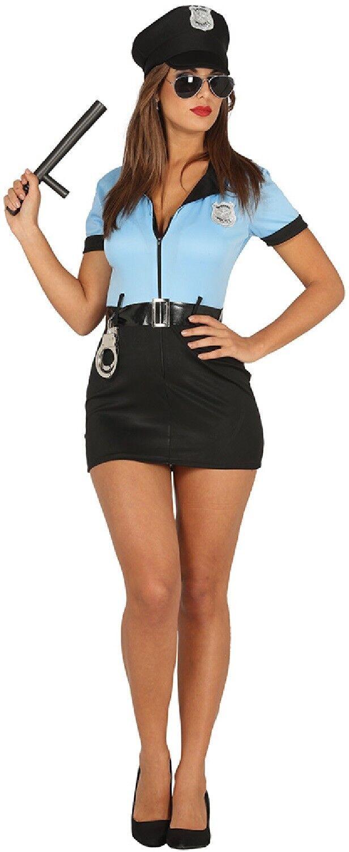 Ladies American Police Woman Poliziotta Costume Gallina Vestito.