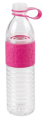 Copco Hydra Reusable Water Bottle with Tethered Leak-proof Cap 20 oz - Pink