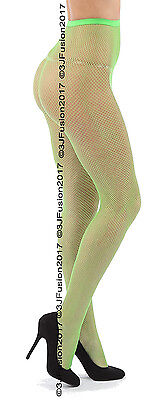 Women's Ladies Fishnet Fashion Tights Bright  Green Great Price! Fast Post! (EY) - Bright Green Tights