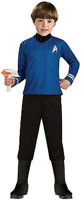Rubies 3886467 Star Trek Mr. Spock Deluxe Kostüm für Kinder S,M,L ca 3 - 10 - Star Trek Kind Deluxe Kostüm