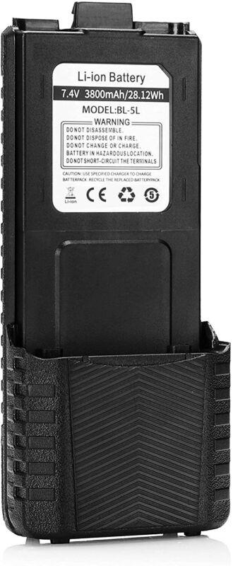 Baofeng BL-5L 3800mAh Li-ion Battery for UV5R Plus 5RX3 F8+ TP Two-way Radio USA