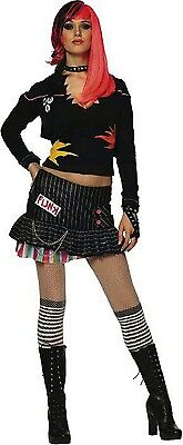 80's Rockstar Halloween Costumes (Punk Rockstar Rock Star 80's Gothic Anarchist Dress Up Halloween Adult)