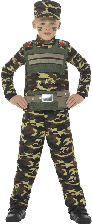 Ragazzi del camuffamento dell esercito soldato uniforme militare Fancy Dress  Costume vestito 4-12 anni 1778703e1c5