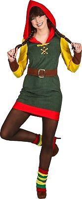 Medieval Female Archer Costume (Ladies Sexy Medieval Archer Robin Hood Elf Halloween Fancy Dress Costume)