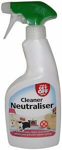 Wash & Get Off Cleaner Neutraliser Spray Urine Deodoriser for Cats & Dogs 500ml