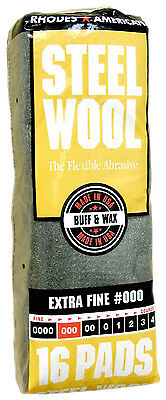 Rhodes American Steel Wool Grade 000 - Extra Fine Rhodes Steel Wool