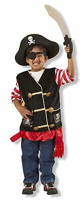 Pirate Costume Melissa And Doug (Melissa & Doug Pirate Costume Role Play/Fancy Dress Set for Boys and Girls)