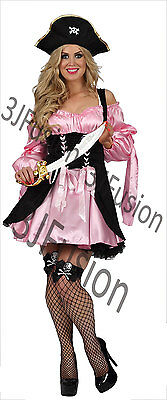 Caribbean Fancy Dress Outfits (Caribbean Pirate Ladies Fancy Dress Buccaneer Hen Party Womens Costume Outfit)