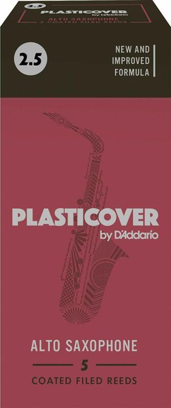 Rico Plasticover Alto Saxophone Reeds, Strength 2.5, 5-pack