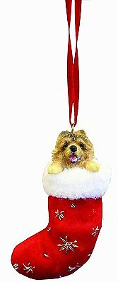 CHOW in Stocking Christmas Ornament-Santa's Little Pals-by E&S Pets ()