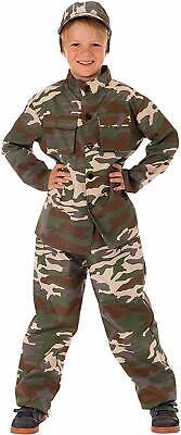 Soldat Kostüm für Kinder Jungen inkl. Bluse, Hose & Mütze Soldaten Kämpfer