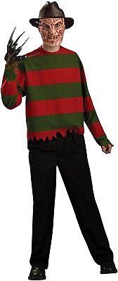 Freddy Krueger Kleid (Herren Offiziell Freddy Krueger TV Film Halloween Horror Kostüm Kleid Outfit)