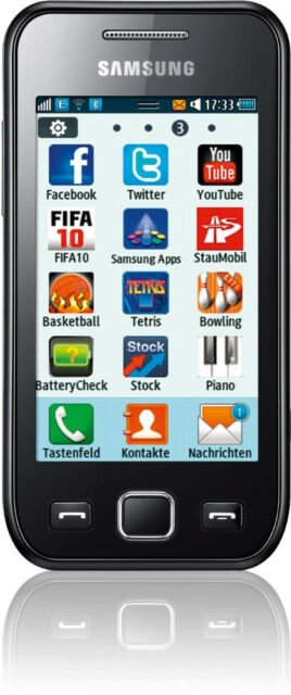 Samsung Wave S723 (Ohne Simlock) Smartphone WLAN 3G GPS 5MP BLITZ RADIO TOP OVP