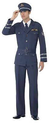 Herren WW2 Air Force Captain Pilot Militär Kostüm Kleid Outfit M & - Captain Pilot Kostüm
