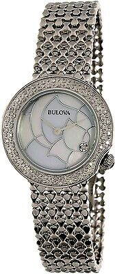 Bulova Women's Diamond 96R209 Silver Stainless-Steel Quartz Fashion Watch