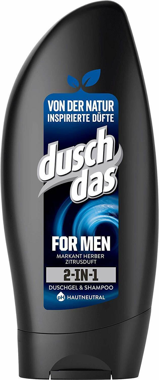 Duschdas For Men 2-In-1 Duschgel PH-Hautneutral Herren 6 x 250 ml 6er Pack