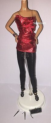Barbie Model Muse City Shine The Look Red Doll Outfit Clothes Shoes Jewelry NEW